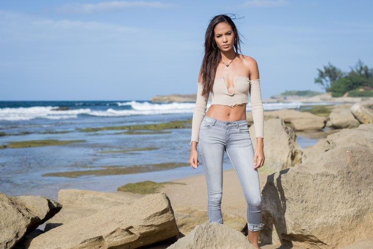 Model Joan Smalls in Isabela, Puerto Rico.