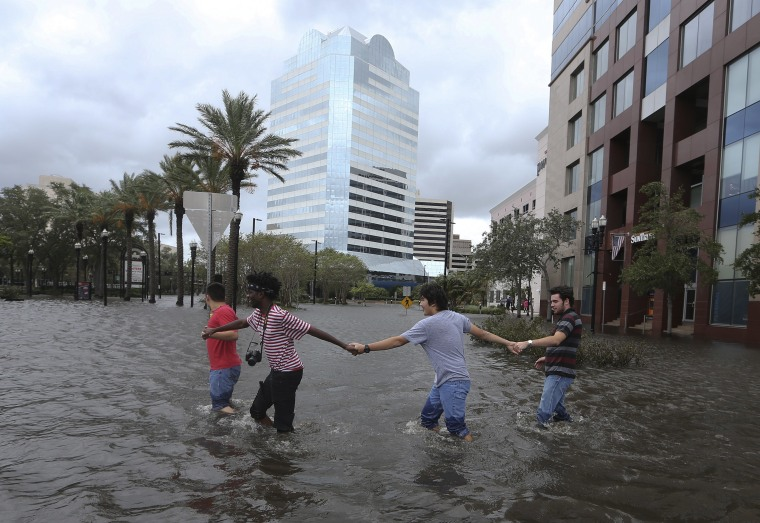 Irma S Storm Surge Swallows Jacksonville With Record Floods