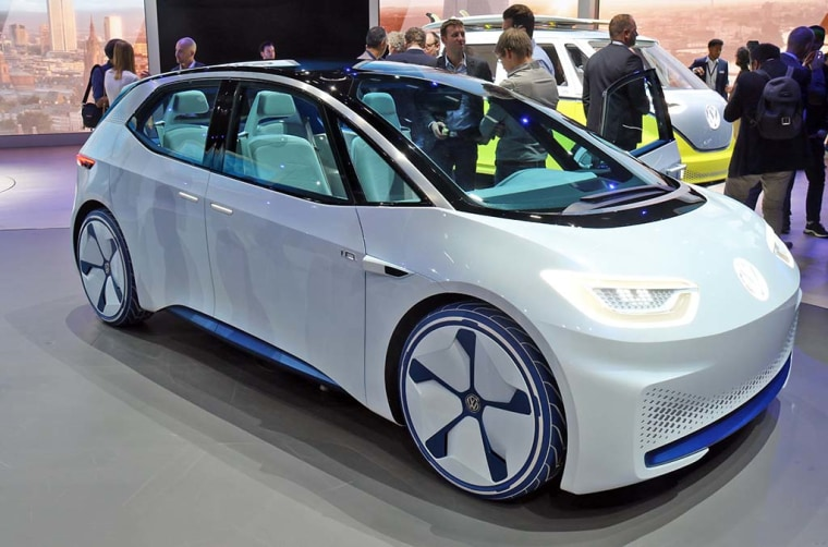 The VW ID Crozz Concept, which debuted at the Frankfurt Motor Show.
