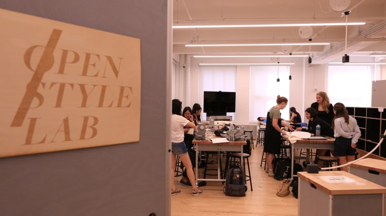 Fellows work at MIT's Open Style Lab during the summer of 2017.