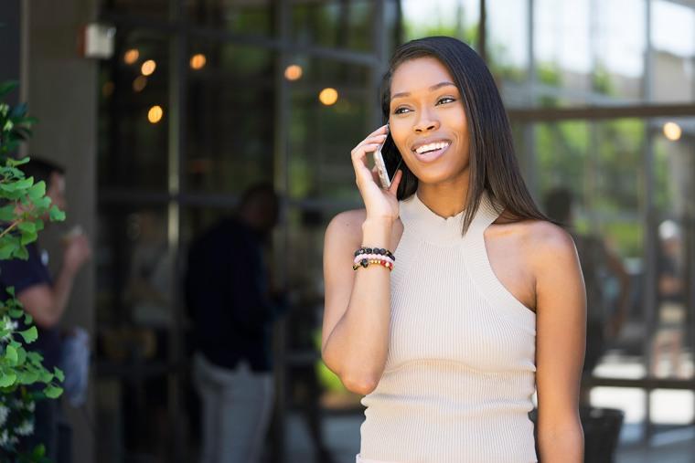 Image: BRWN Stock Image, Woman on phone