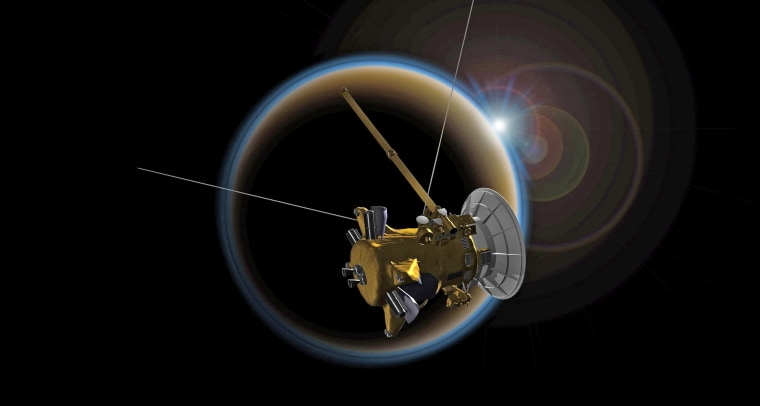 Image: Cassini Spacecraft mission around Saturn nearing its end