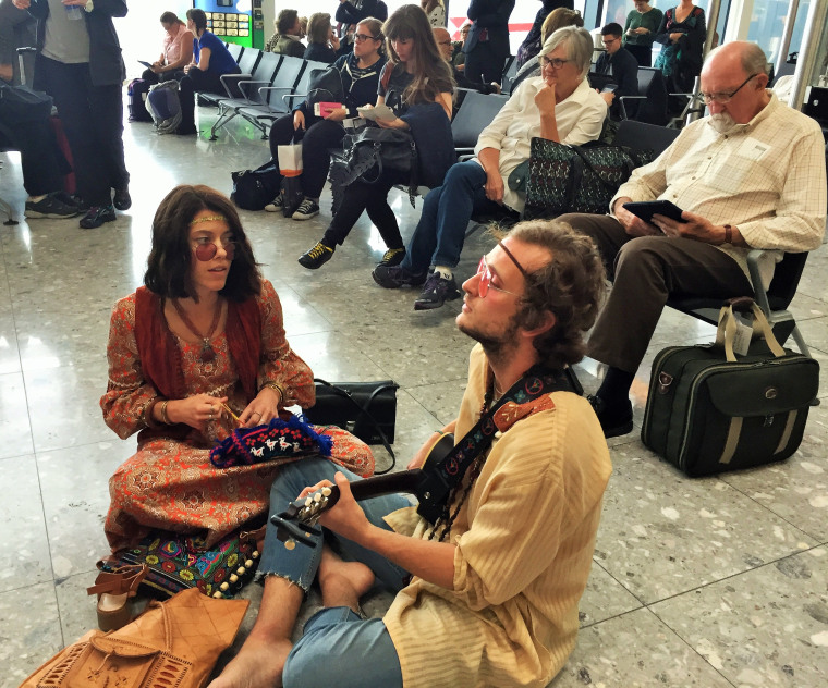 'Hippies' on Icelandair's immersive theatrical performance.