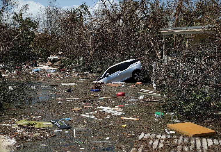 Image: Boats, cars and other debris clog waterways in the Florida Keys