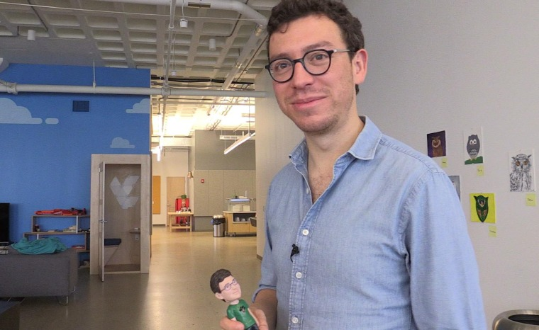 Luis von Ahn at his company's headquarters in Pittsburgh, Pennsylvania, Aug. 2017.