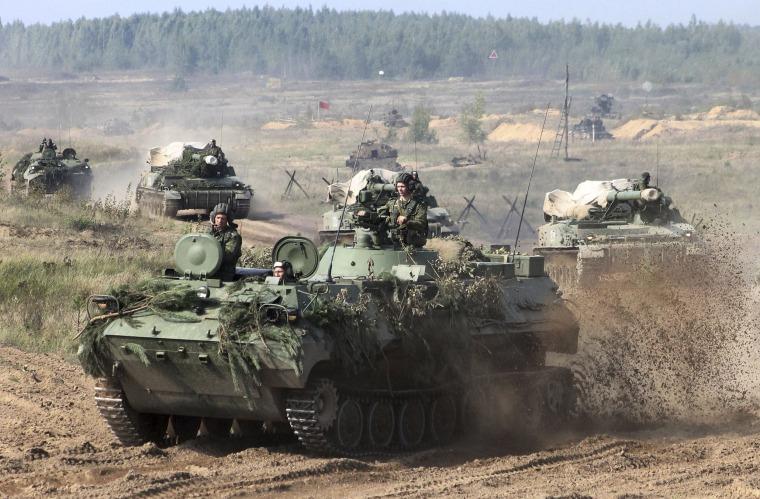 Image: Belarusian Army Vehicles Prepare for Zapad