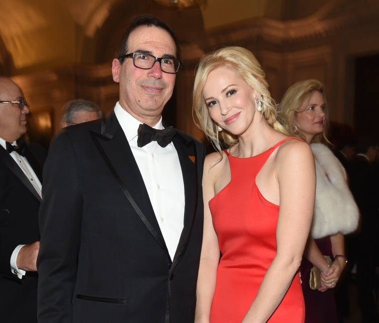 Image: Steven Mnuchin and Louise Linton