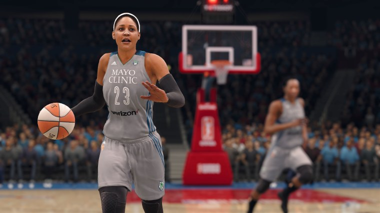 Image: Maya Moore of the Minnesota Lynx in NBA Live 18.