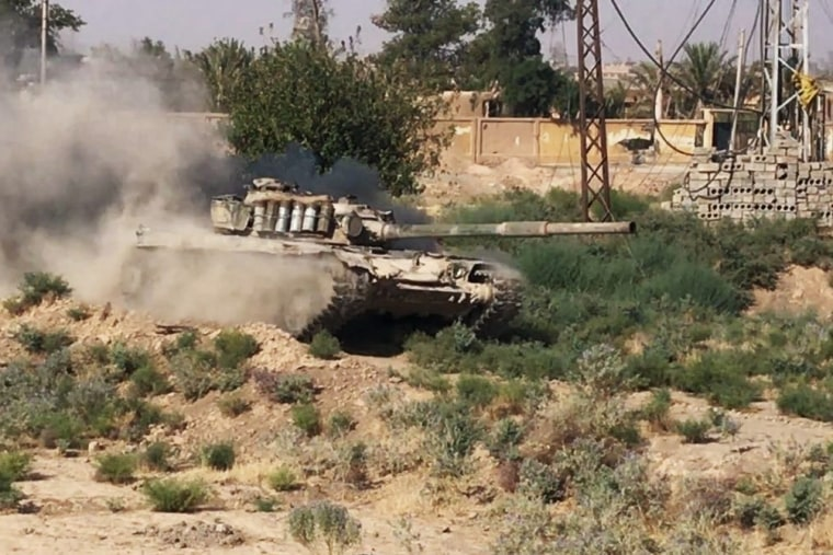 A tank in Deir al Zour, where the Syrian army is fighting ISIS.