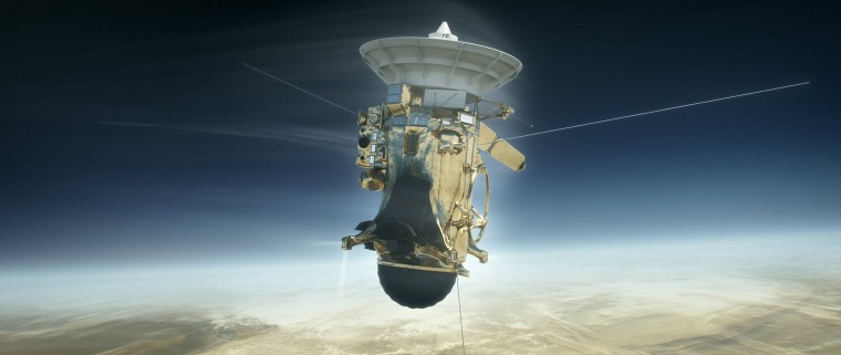 Image: Cassini spacecraft's final plunge into Saturn