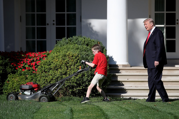 Image: President Accepts Offer From  11-Year-Old Virginia Boy To Mow Lawn Of White House