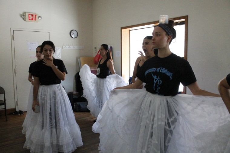 Members of Ballet Neplanta practice for a show.