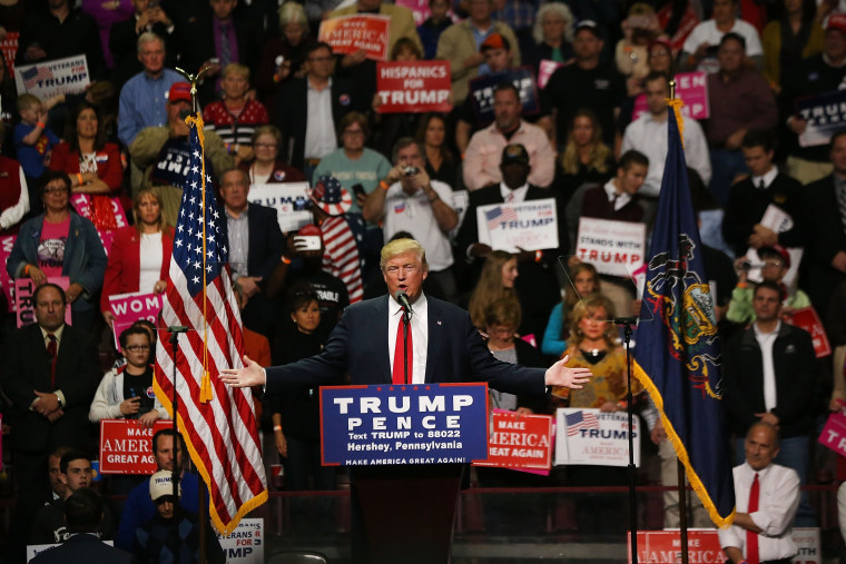 Image: Republican Presidential Nominee Donald Trump  Campaigns In Pennsylvania