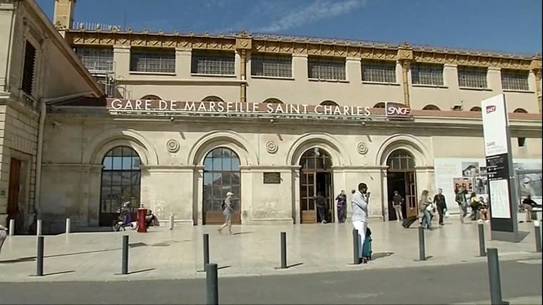 Image: Gare de Marseille Saint Charles, where two American tourists were targeted in an acid attack on Sept. 17, 2017.