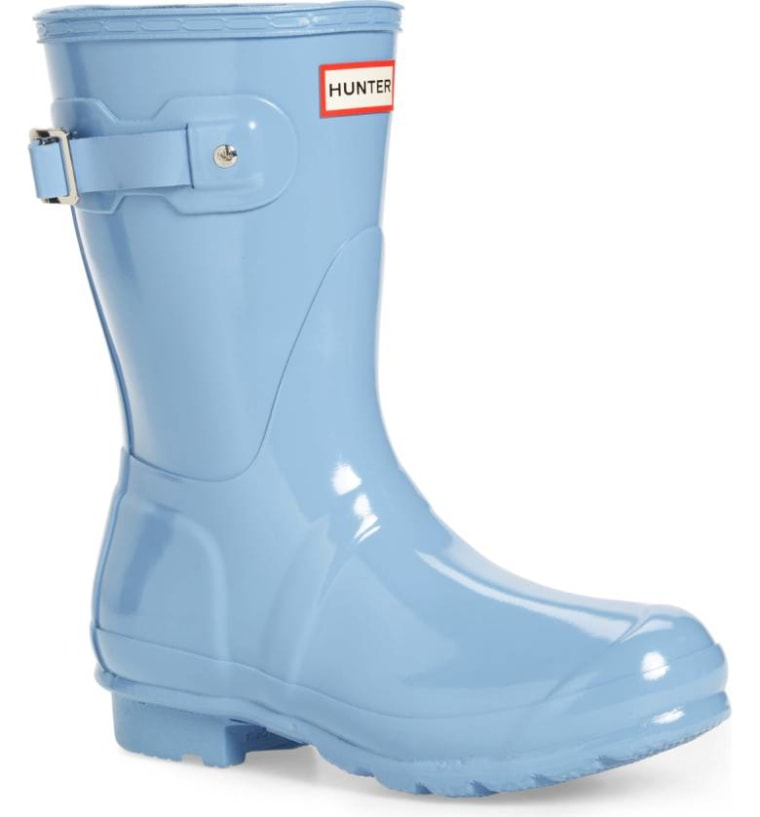 Hunter short rain boot in blue