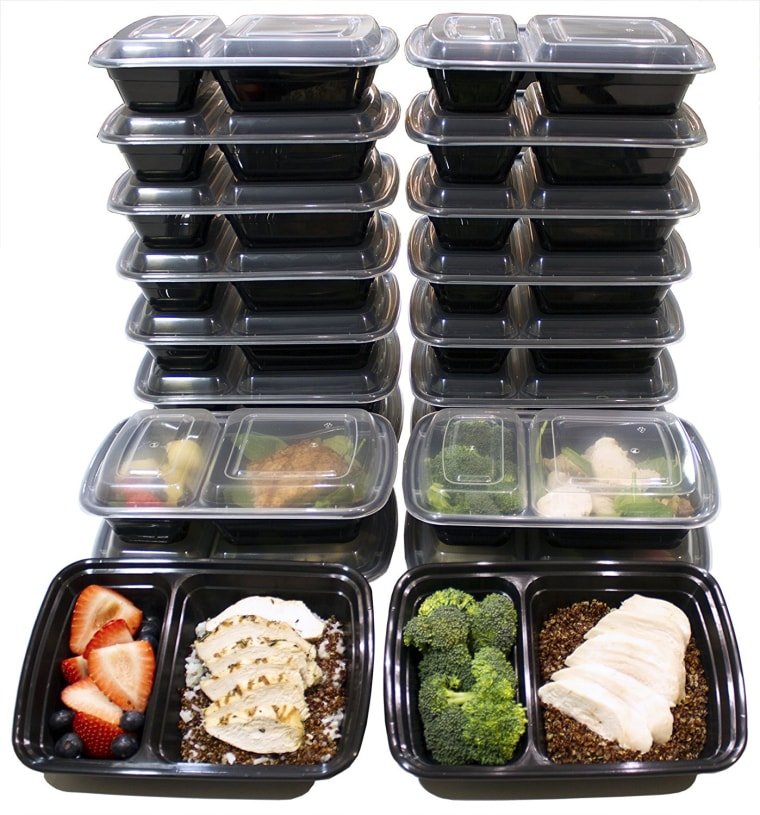 32-ounce 2-Compartment Meal Prep Containers