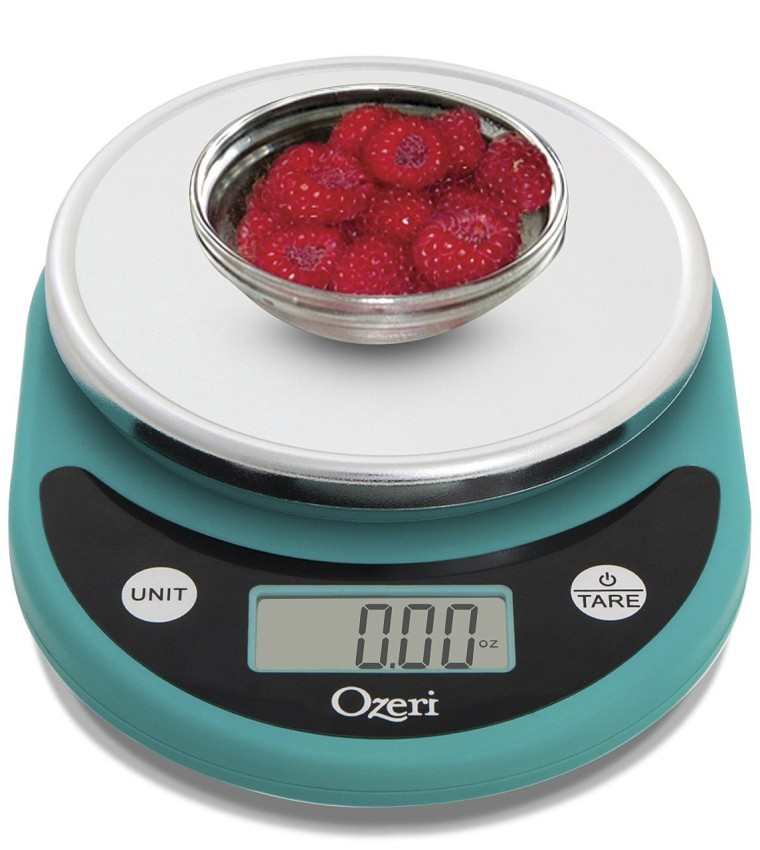 Food scale in robins egg blue
