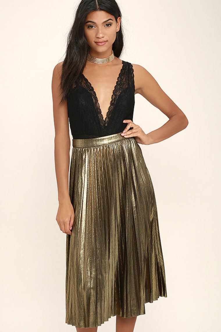 gold skirt, metallic skirt, fashion, fall fashion, shopping