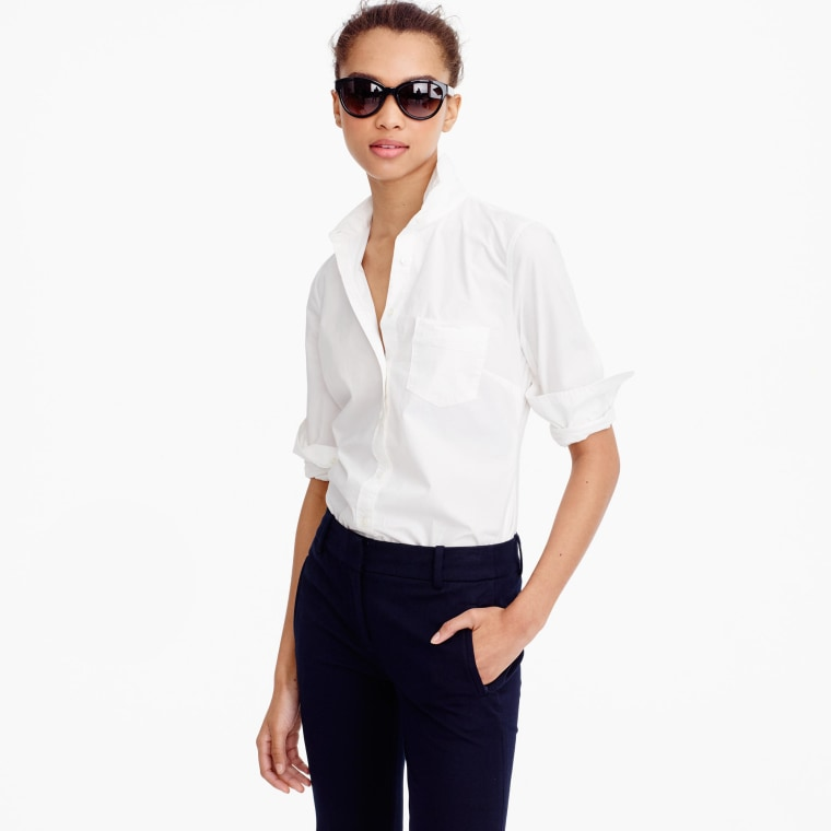 white shirt, fall fashion, shopping