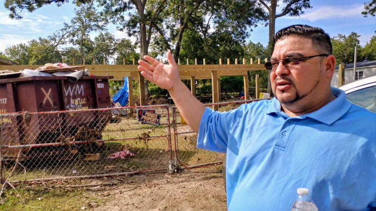 Juan and Brenda Tobar's house was destroyed by Hurricane Harvey