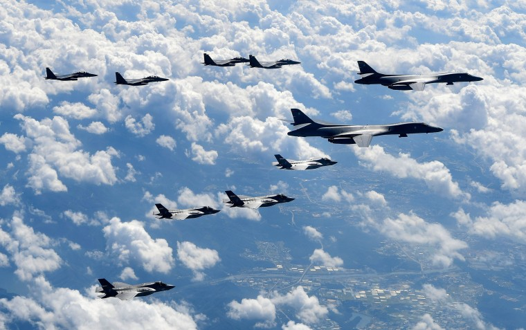Image: US Bombers Fly Near Military Demarcation Line Between Two Koreas