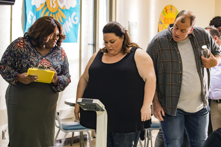 """Image: Chrissy Metz as Kate and Chris Sullivan as Toby in """"The Best Washing Machine in the Whole World"""" on season 1 of """"This is Us."""""""