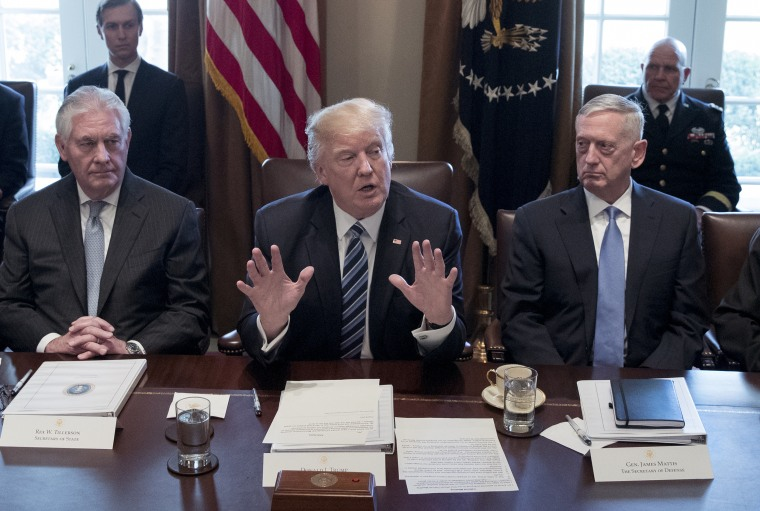Image: President Trump Meets With His Cabinet At The White House