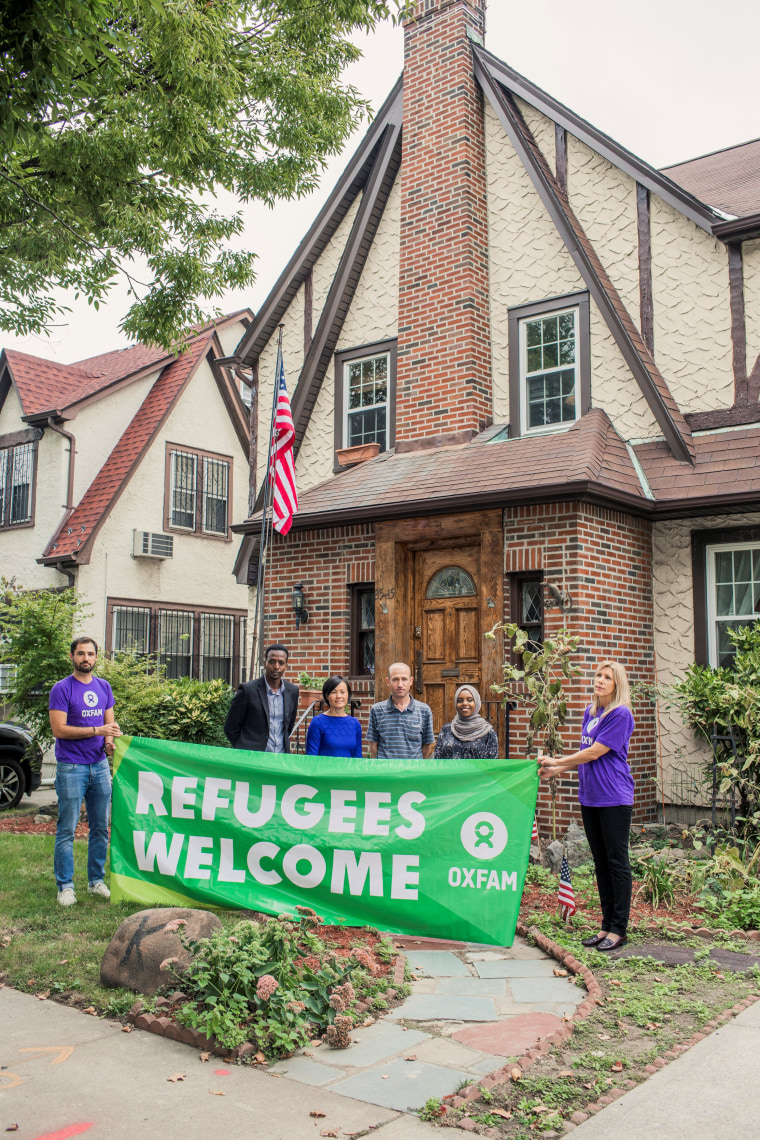Image: Aid agency Oxfam, invites refugees to spend the weekend at U.S. President Donald Trump's childhood home