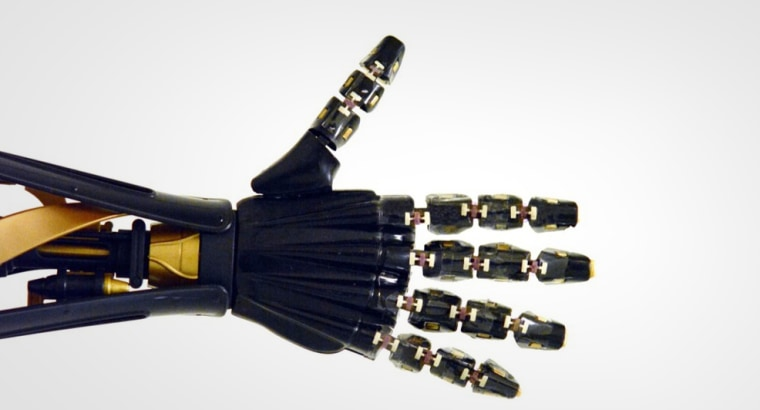 The robotic hand designed by Yu and his team.