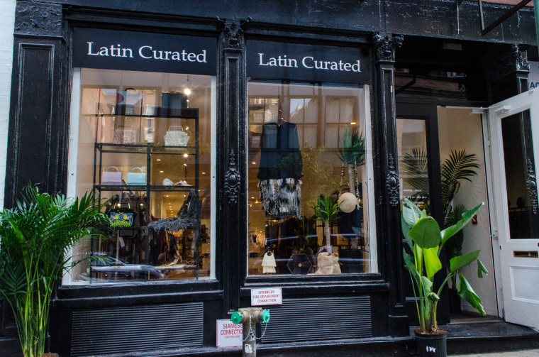 The 'Latin Curated' space, located in the SoHo neighborhood of New York City, is part-showroom, part-pop-up store.