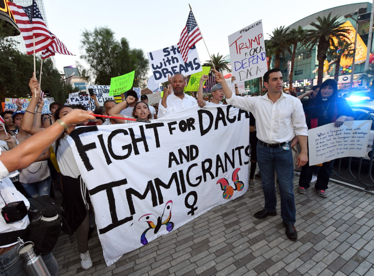 """Image: Hundreds Join \""""Defend DACA\"""" March In Las Vegas"""