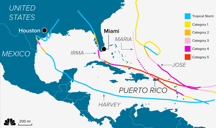 Image: Hurricanes path