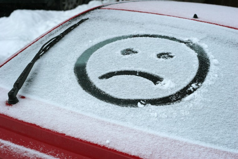 Image: Sad Face In Snow