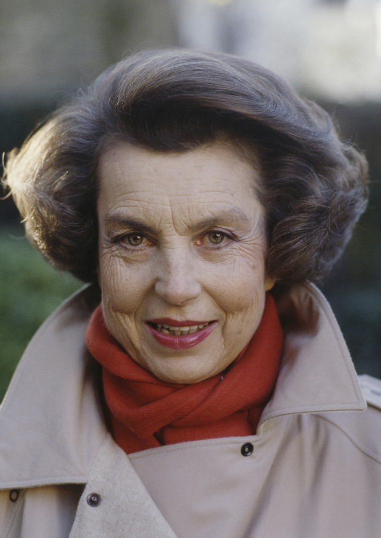 ImageL: French L'Oreal heiress Liliane Bettencourt