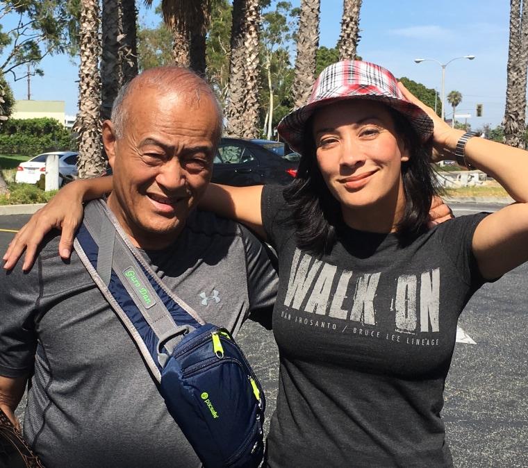 Diana Lee Inosanto with her father, Dan Inosanto.