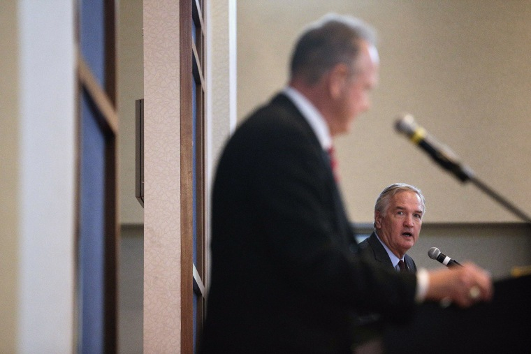 Image: Roy Moore, Luther Strange