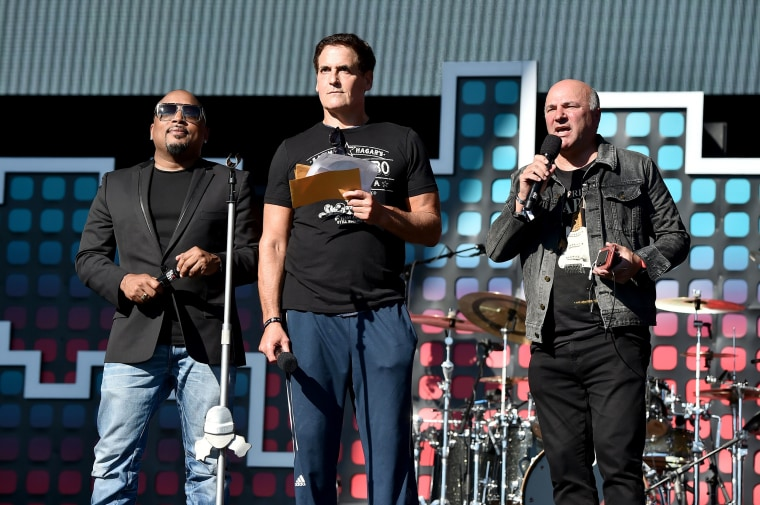 Image: Daymond John, Mark Cuban and Kevin O'Leary speak onstage during the 2017 Global Citizen Festival in Central Park to End Extreme Poverty by 2030 at Central Park on Sept. 23, 2017 in New York City.