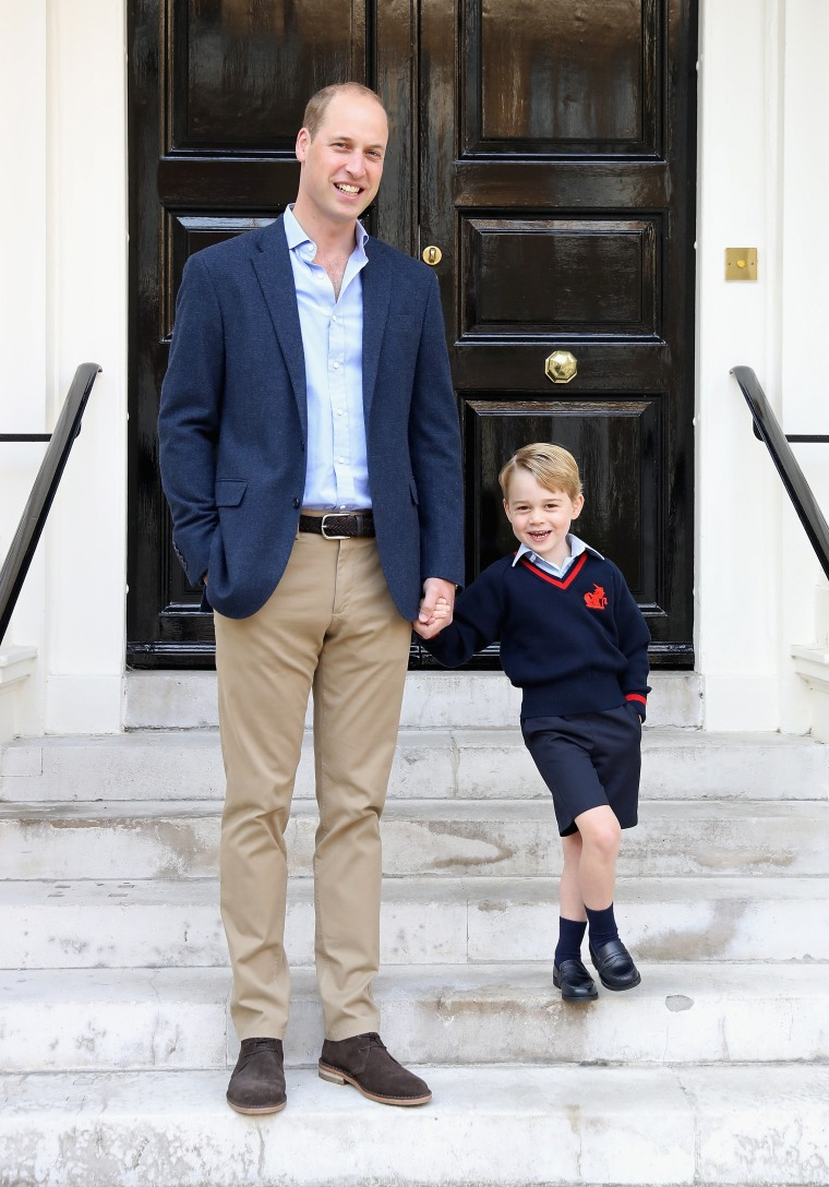 Image: Prince George Attends Thomas's Battersea On His First Day At School
