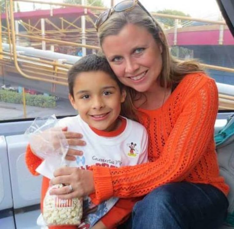 Susan Fortson with her son, Logan Martinez.