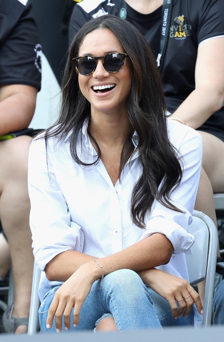 Ladies White When Prince Harry Met Meghan T-Shirt Funny Royal Wedding Top