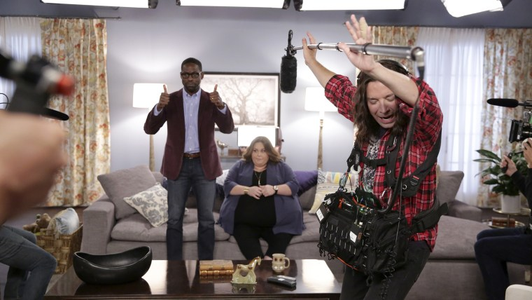 Sterling K. Brown, Chrissy Metz and Jimmy Fallon