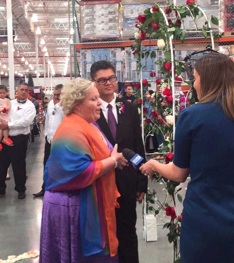 Sue Berkeley and Eli Bob get married Sept. 23 at a Sydney, Australia-area Costco