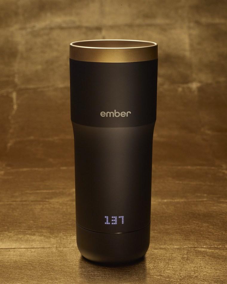 The Ember Mug with the 24 Karat Halo Lid