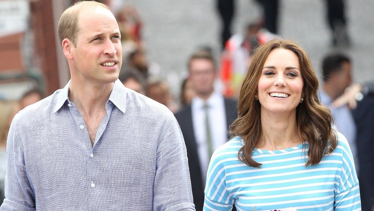 Prince William and his wife, Duchess Kate, the former Kate Middleton