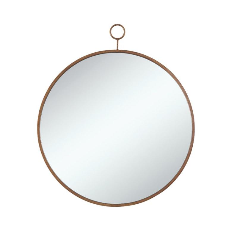 Joss & Main Round Gold Wall Mirror