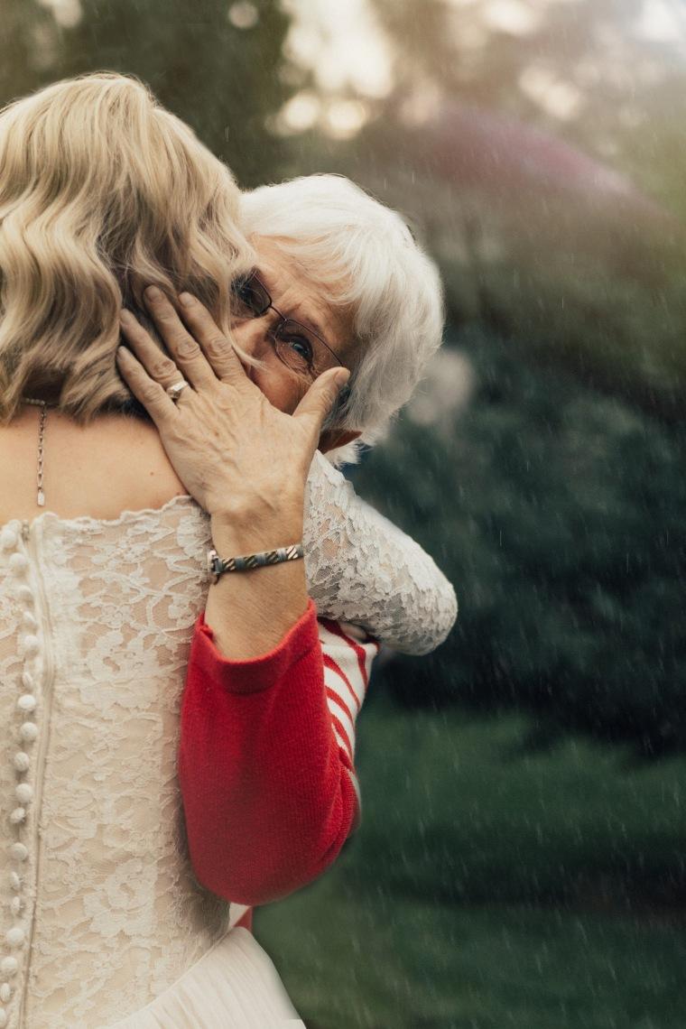 Bride surprises grandmother by wearing her vintage wedding gown