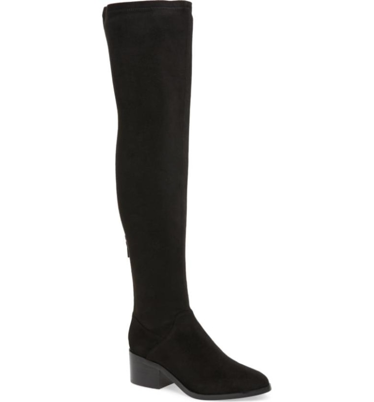 Over the knee steve madden boots in black