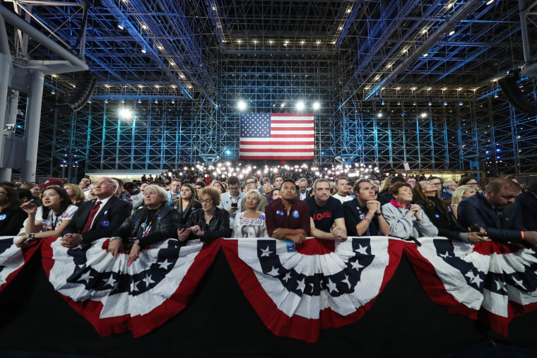 Image: An audience watches the results from the U.S. presidential election