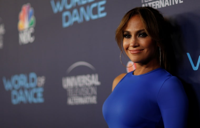 "Image: Judge Lopez poses at an event for the television series ""World of Dance"" in West Hollywood"