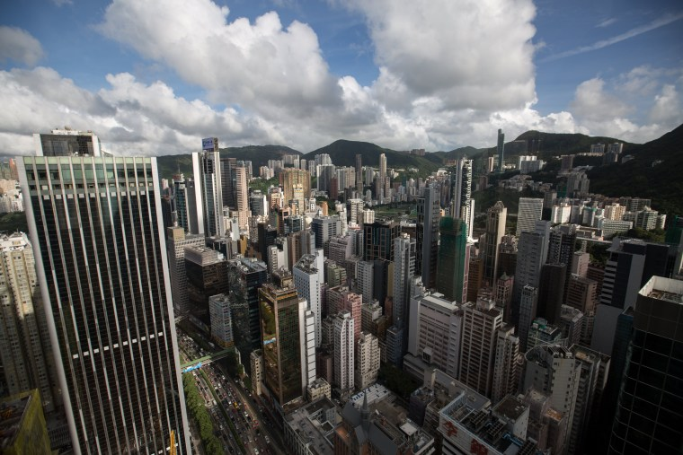 Image: Standard and Poor's lowered its long-term rating on Hong Kong